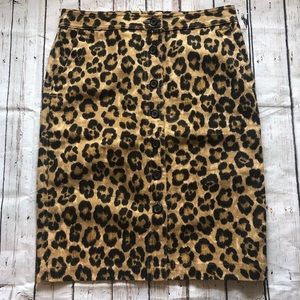 Ralph Lauren Cheetah Print Button-Front Skirt 2P